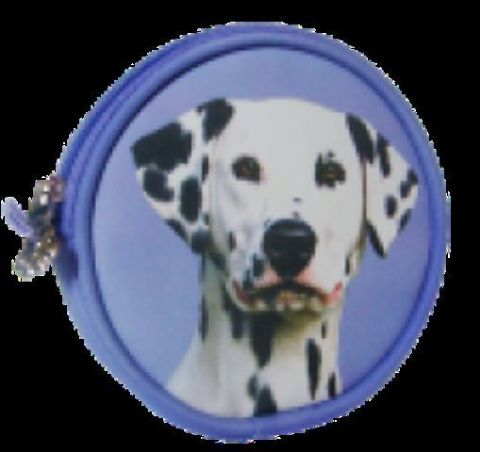 DALMATIAN COIN PURSE LILAC, with or without lucky coin